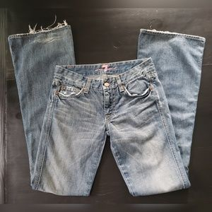 7 For All Mankind sz 24 Flare Leg Jeans
